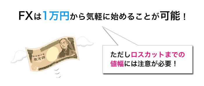 FXは1万円から気軽に始めることが可能!