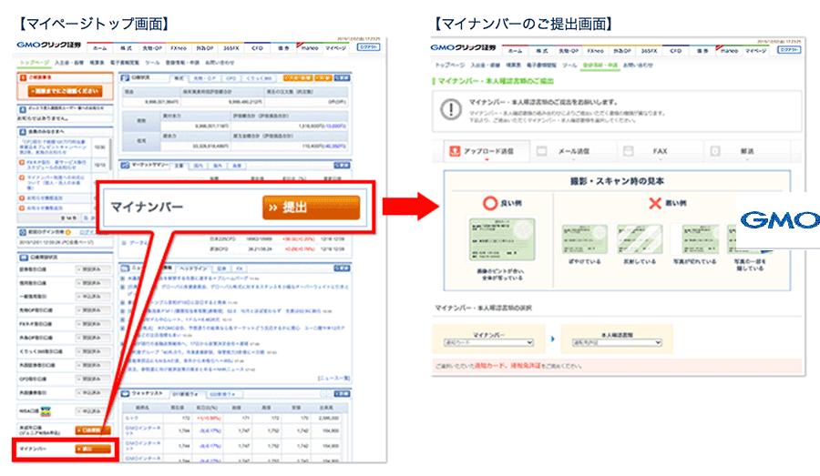 GMOクリック証券のマイナンバー登録方法