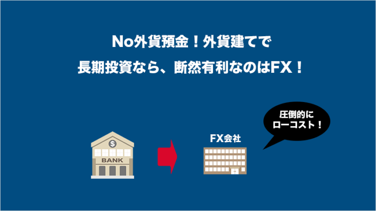 No外貨預金!外貨建で長期投資なら、断然有利なのはFX!