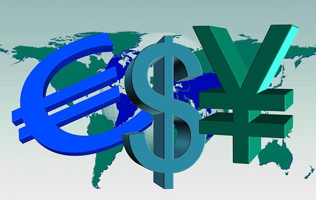 ユーロ、米ドル、円のイメージ