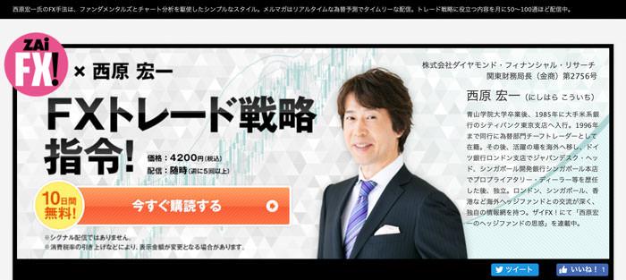 ZAiFX! × 西原宏一 FXトレード戦略指令!