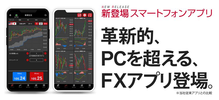 新登場スマートフォンアプリ 革新的、PCを超えるFXアプリ登場