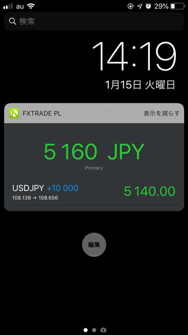 オアンダ・ジャパンのiPhoneアプリでは、リアルタイムな評価損益を知ることができます。