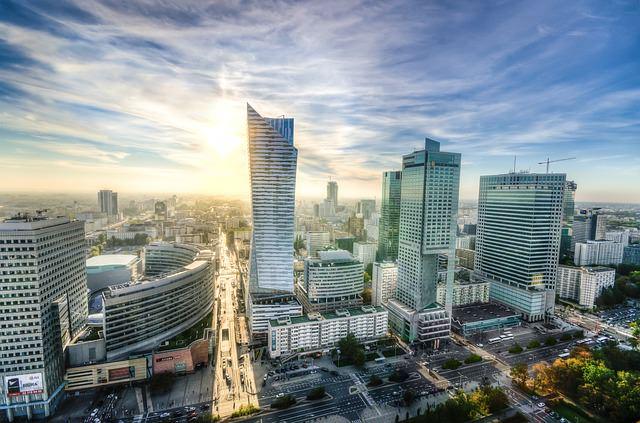 ポーランドの首都、ワルシャワの様子