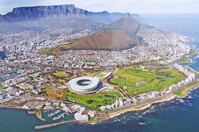 南アフリカの街