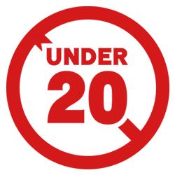 20才未満は禁止