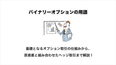 バイナリーオプションの専門用語を解説【コール/プット/プレミアム】