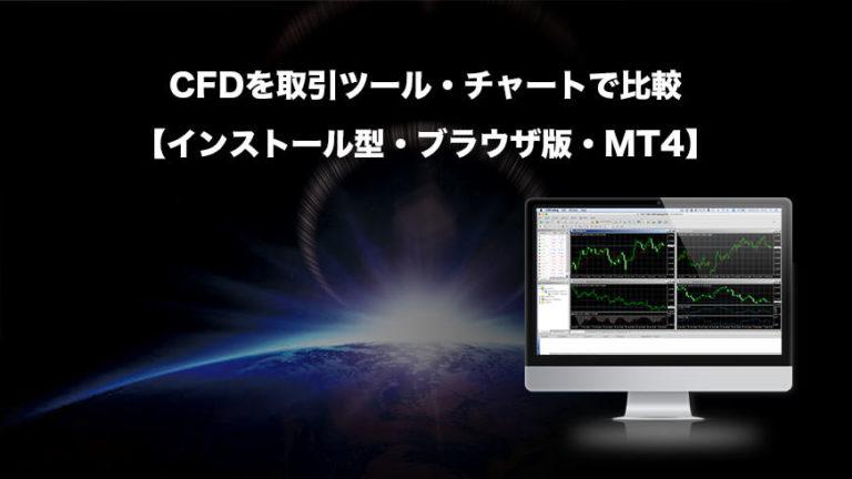 CFDを取引ツール・チャートで比較【インストール型・ブラウザ版・MT4】