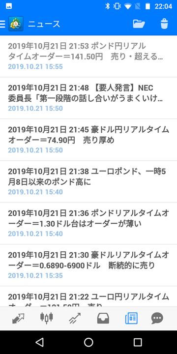 ゴールデンウェイ・ジャパンなら日本語でマーケットニュースを閲覧できる。