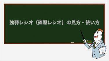 強弱レシオ(篠原レシオ)の見方・使い方【テクニカル指標・オシレーター系】