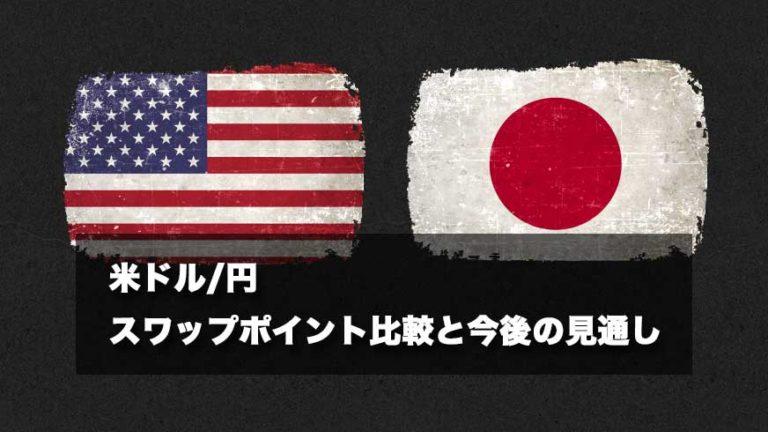 米ドル/円 スワップポイント比較と今後の見通し