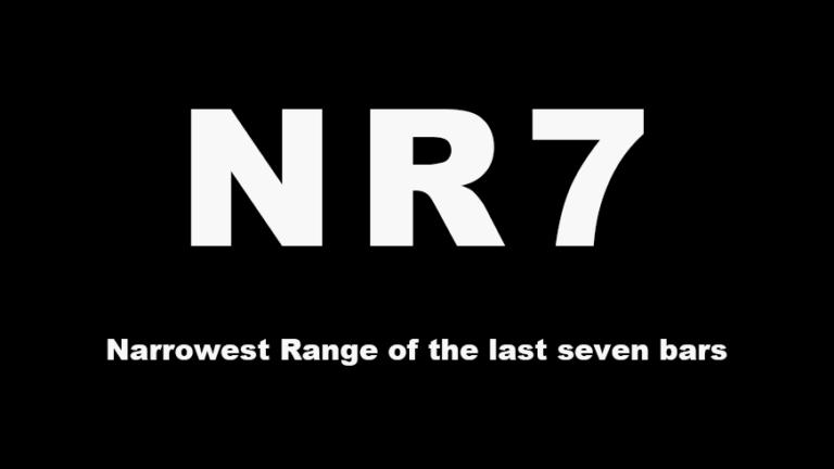 MR7|Narrowest Range of the last seven bars