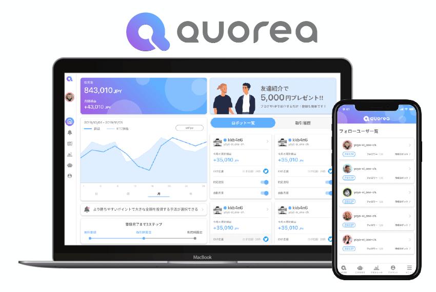 QUOREA FX 取引画面のイメージ