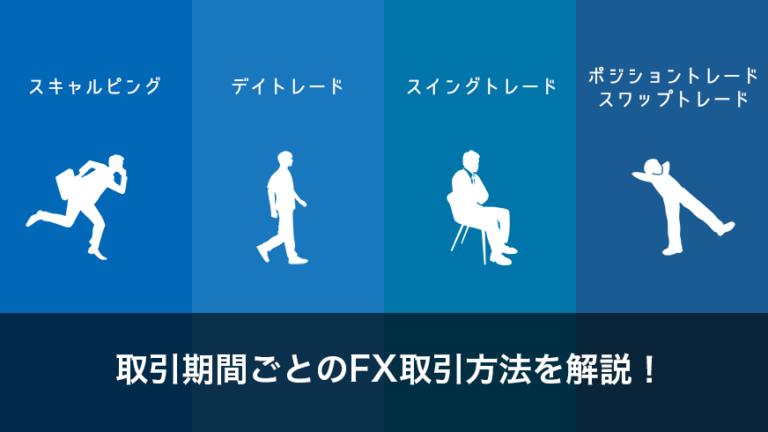 取引期間期間ごとのFX取引方法を解説!【スキャル/デイトレ/スイング/スワップ】