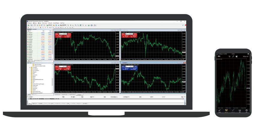 楽天証券CFDのPC版MT4とスマホアプリ版MT4