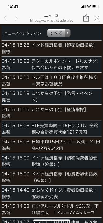 松井証券(MATSUI FX)LINE公式アカウントの為替ニュース