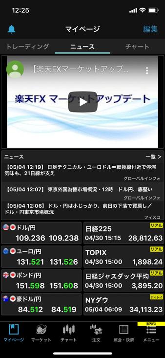 楽天証券スマホアプリ「iSPEED FX」のニュース