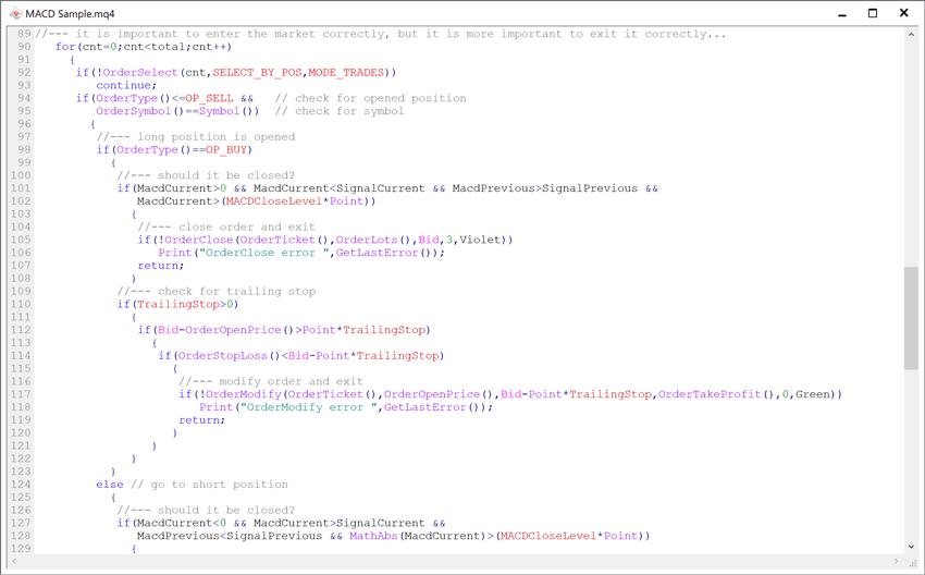 MT4のEA(mq4)のソース例