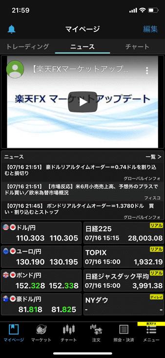 iSPEED FXマイページのニュース